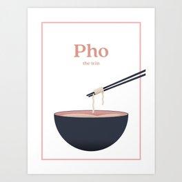 Pho the win - Border Art Print