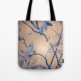 bird wall paper Tote Bag
