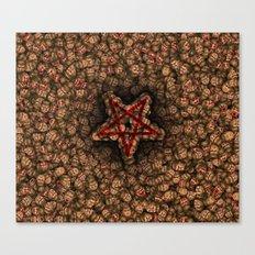 Classic Doom faces pentagram Canvas Print