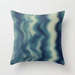 Blue blured background Throw Pillow