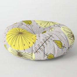 Mid-Century Modern Floral Floor Pillow