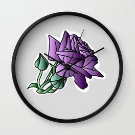 Simple roze grey 3 Wall Clock