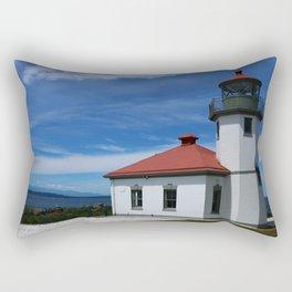 Alki Point Light Rectangular Pillow