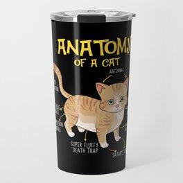 Funny Anatomy Of A Cat Kitten Feline T-shirt Travel Mug