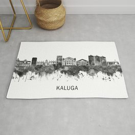 Kaluga Russia Skyline BW Rug