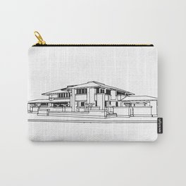 Darwin Martin House in Black & White Carry-All Pouch