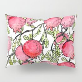 Pomegranate branches watercolor Pillow Sham
