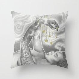 Ex Luna Scientia Throw Pillow