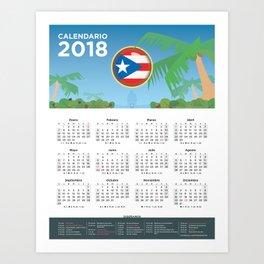 CALENDAR 2018 PR Art Print