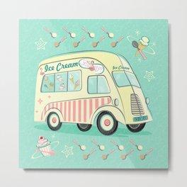 Vintage Ice Cream Van Metal Print