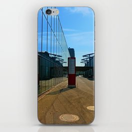 Modern glass window reflections | architectural photography iPhone Skin