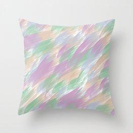Color Strokes Abstract  Throw Pillow