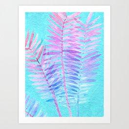 Watercolor Leaves 2 Art Print