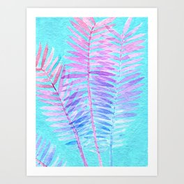 Watercolor Leaves 2 Art Print