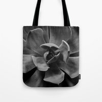 succulent Tote Bags featuring succulent by Bonnie Jakobsen-Martin