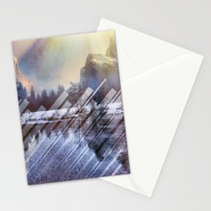 Winter Sun Rays Abstract Nature Stationery Cards