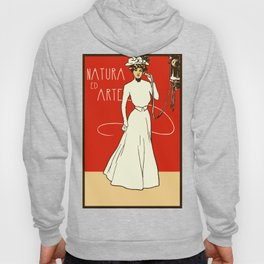 Nature ed Arte, Italian Lady on an antique telephone Hoody