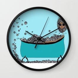 Earthling Bath Time Wall Clock