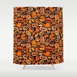 Pumpkin Brawl. Shower Curtain