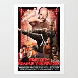 Fight City: Shaolin Throwdown (poster) Art Print