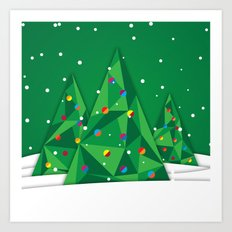 Vector Christmas Tree Art Print