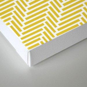 Herringbone 45 Yellow Canvas Print