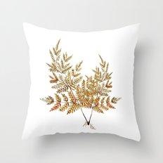 Autumn fern  Throw Pillow