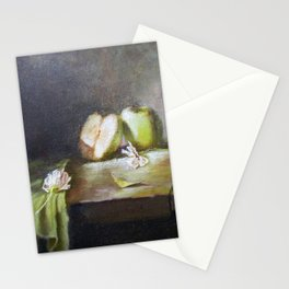 Green Apples Stationery Cards