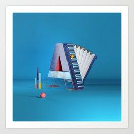 A for accordion Art Print