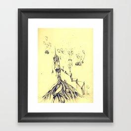 moving around Framed Art Print