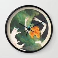 cosmic Wall Clocks featuring Cosmic by Adara Sánchez Anguiano