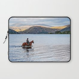 Horse at Airds Bay Loch Etive Laptop Sleeve