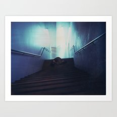 Federation Stairs Polaroid Art Print