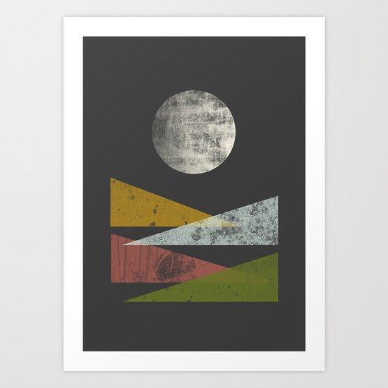 Hills at night Art Print