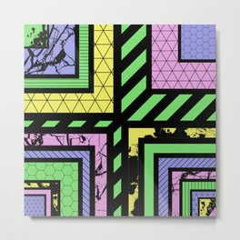 Pastel Corners (Abstract, geometric, textured designs) Metal Print