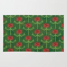 Spring Roses Pattern Rug