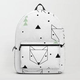Scandinavian woodland fox forest mint black and Backpack