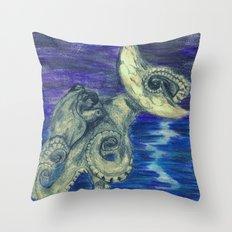 Noctopus Throw Pillow
