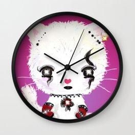 Punky Persian - Dark Pink Wall Clock