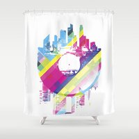 deadmau5 Shower Curtains featuring Urban Vinyl V2 by Sitchko Igor