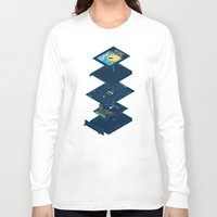 blueprint Long Sleeve T-shirts featuring Blueprint Waka-Waka by Manny Peters Art & Design