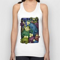 aliens Tank Tops featuring Crowded Aliens by Billy Allison