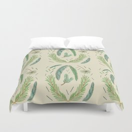 Pine Bough Study Duvet Cover
