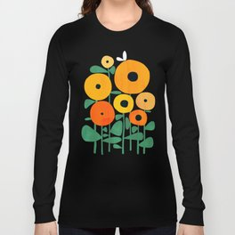 Sunflower and Bee Long Sleeve T-shirt