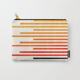 Orange Watercolor Gouache Staggered Stripes Pattern Simple Modern Minimalist Art Carry-All Pouch