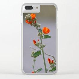 Desert Wildflower - 3 Clear iPhone Case
