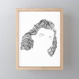 Virgina, in transparent/black Framed Mini Art Print