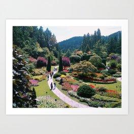 The Sunken Garden I - Butchart Gardens, BC Art Print