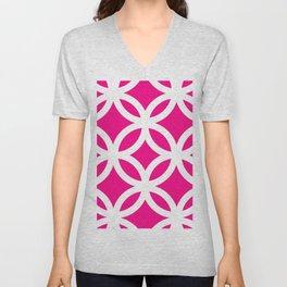 Magenta pattern  Unisex V-Neck