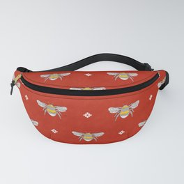 Bumblebee Stamp on Red Fanny Pack